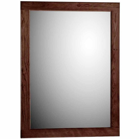 "Strasser Woodenworks 24"" Framed Mirror with Rounded Edge in Dark Alder"