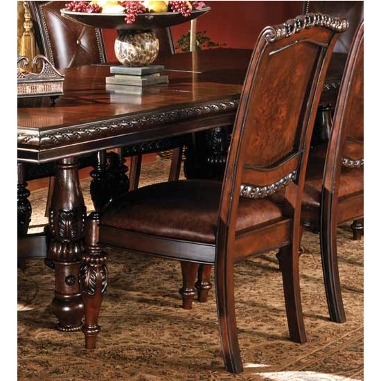 Steve Silver Antoinette Side Chair Set, Cherry Finish