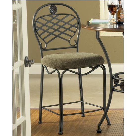 Steve Silver Wimberly Welded Counter Chair Set of 2, Metal Base