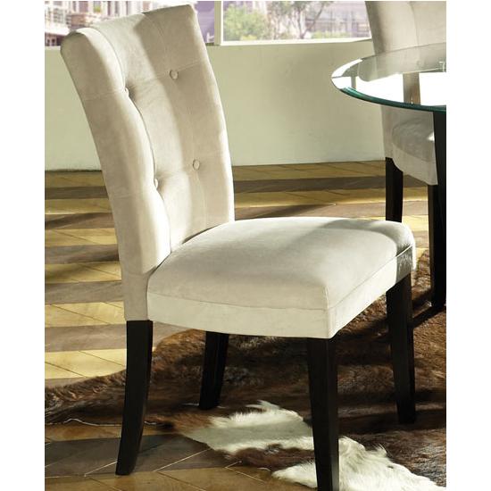 Steve Silver Beige Matinee Parsons Chair, Microfiber Seat and Black Legs