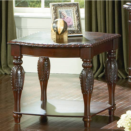 Steve Silver Antoinette End Table, Cherry Finish