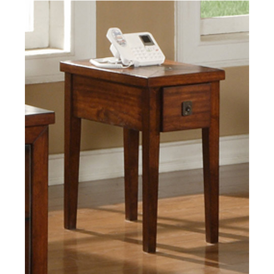 Steve Silver Davenport Chairside End Table, Dark Cherry Finish