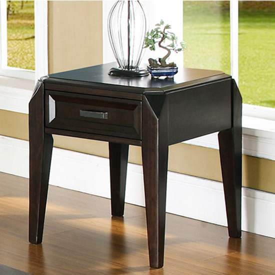 Steve Silver Wellington End Table, Dark Cherry Finish