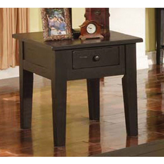 Steve Silver Liberty End Table, Antique Black Finish