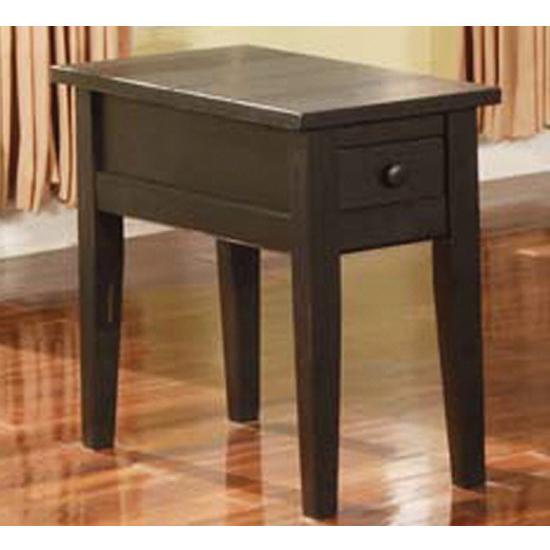 Steve Silver Liberty Chairside End Table Antique Black, Antique Black Finish