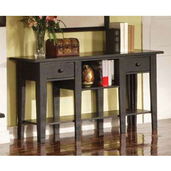 Steve Silver Liberty Sofa Table, Antique Black Finish