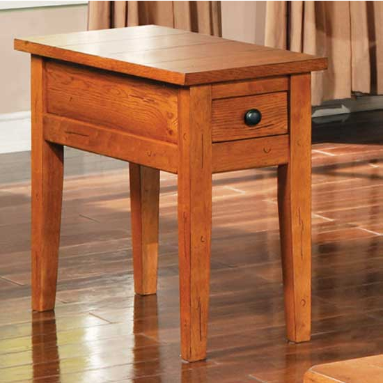 Steve Silver Liberty Chairside End Table Oak, Oak Finish