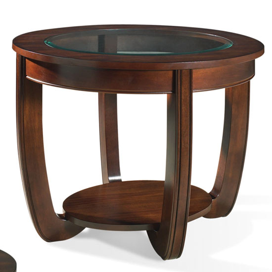 Steve Silver London End Table, Cherry Finish