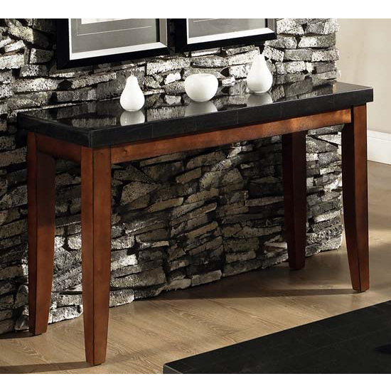 Steve Silver Granite Bello Sofa Table, Marble Top and Cherry Base