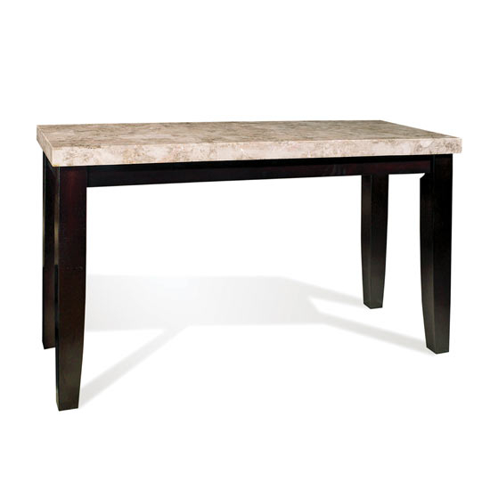 Steve Silver Monarch Sofa Table, Marble Top and Black Finish