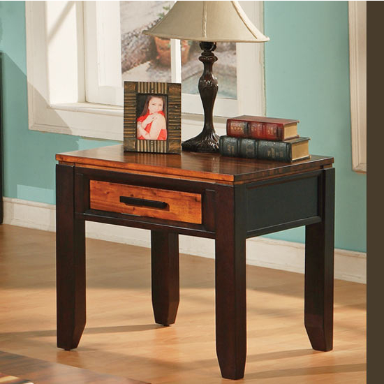 Steve Silver Abaco End Table, Acacia Finish