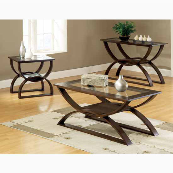 "Steve Silver Dylan End Table, 24""W x 22""D x 24""H, with 5mm clear glass insert"