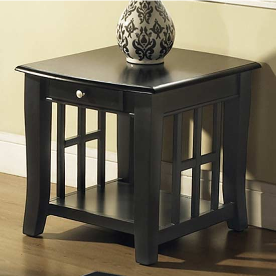 Steve Silver Cassidy End Table, Black Finish