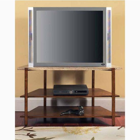 "Steve Silver Tivoli Faux Marble Top TV Stand, 46""W x 21""D x 26""H"