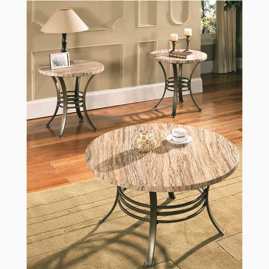 Steve Silver Ellen Faux Marble 3-Pack Table