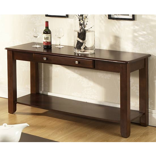 Steve Silver Nelson Sofa Table, Dark Cherry Finish