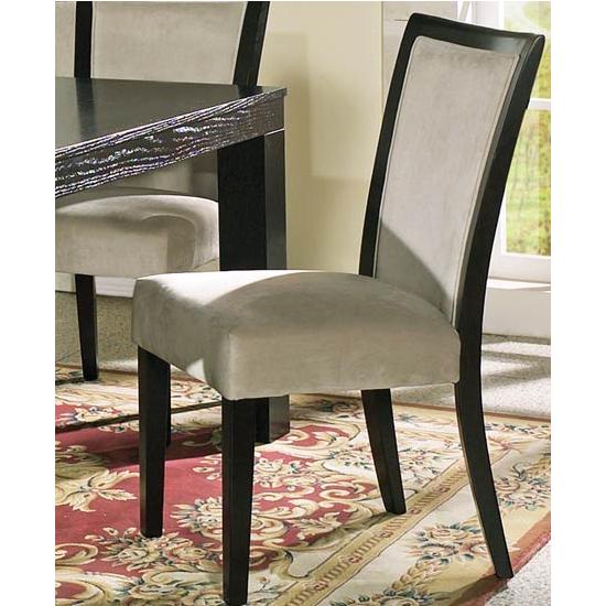 Steve Silver Movado Velvet Parsons Chair Set of 2, Merlot Finish