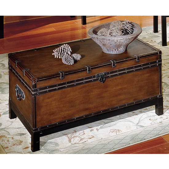 Steve Silver Voyage Trunk, Antique Cherry Finish