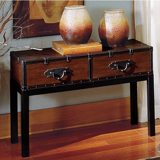 Steve Silver Voyage Sofa Table, Antique Cherry Finish
