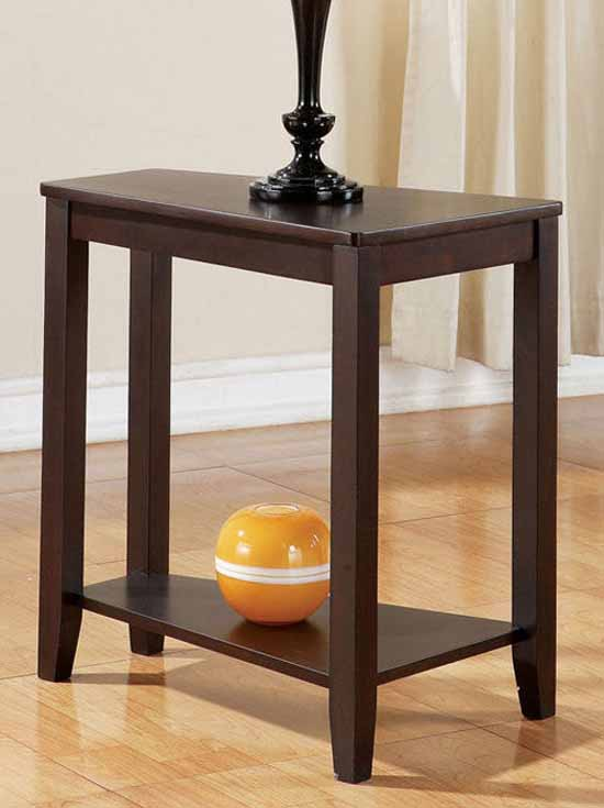 "Steve Silver Jordan Chairsside End Table Oak, 22""W x 11""D x 27""H"