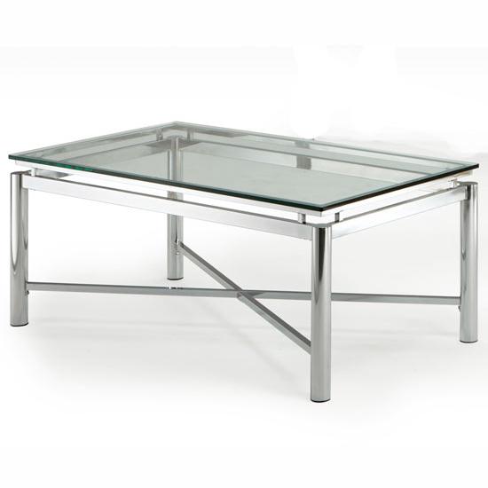 Kings Brand Coylin Chrome Glass Cocktail Coffee Table: Steve Silver Nova Cocktail Table, Glass Top And Chrome