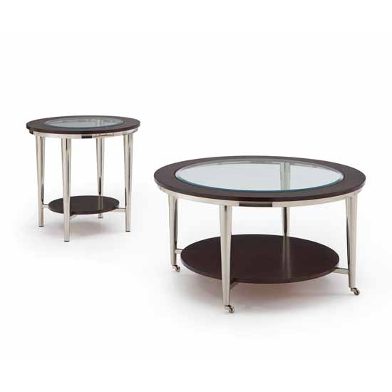 Steve Silver Norton Living Room Set with End Table & Cocktail Table, Espresso Finish