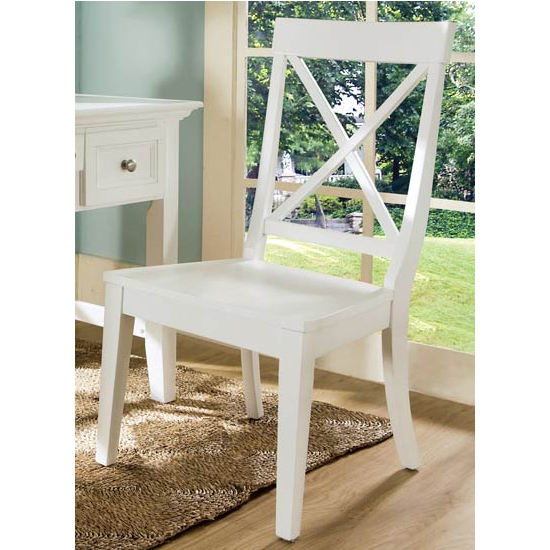 Steve Silver Oslo Chair, White Finish