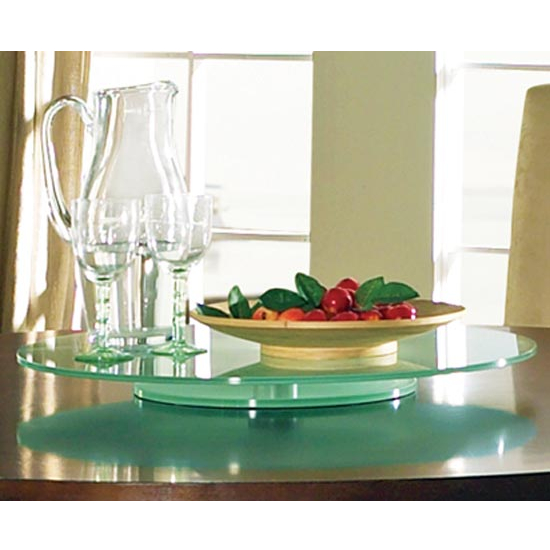 "Steve Silver Avenue Lazy Susan, 22"" Round, Frosted Glass"
