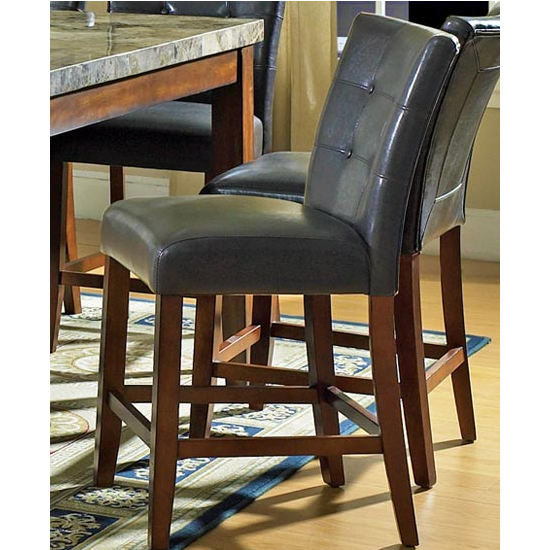 Steve Silver Montibello Counter Chair Dark Brown, Cherry Finish