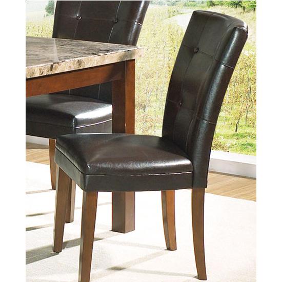 "Steve Silver Montibello Parsons Chair Set of 2, Dark Brown, 18""W x 25""D x 38""H, Cherry Finish"