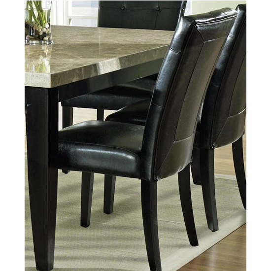 Steve Silver Monarch Parsons Chair, Black Finish
