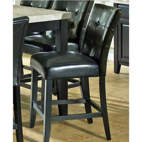 Steve Silver Monarch Counter Parsons Chair Set of 2, Black Finish