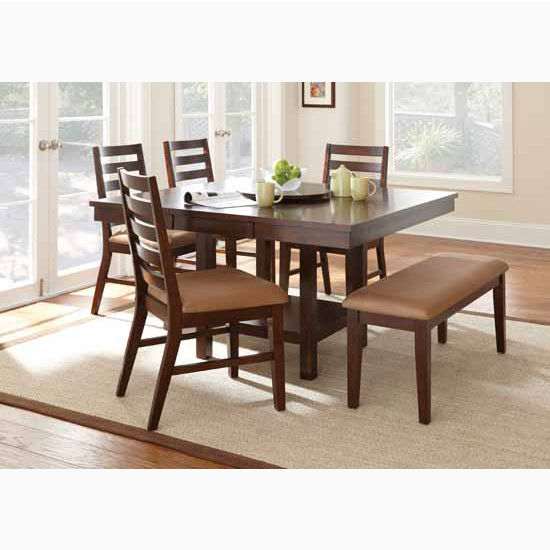 "Steve Silver Eden Side Chairs, 19""W x 23""D x 38""H, Dark Cherry"
