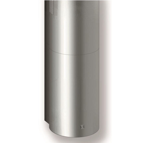 Sirius SU208 Wall Mount Range Hood, 600 CFM Internal Blower, Stainless Steel, 4 Speed Remote Control, 50W Dichroic Lamp