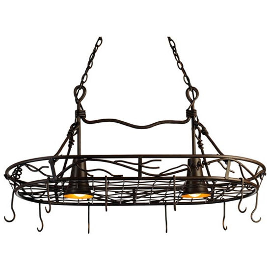 Vine Pot Rack with Downlights
