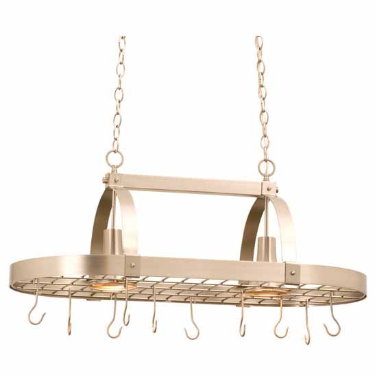 Pot Racks With Downlights By Steel