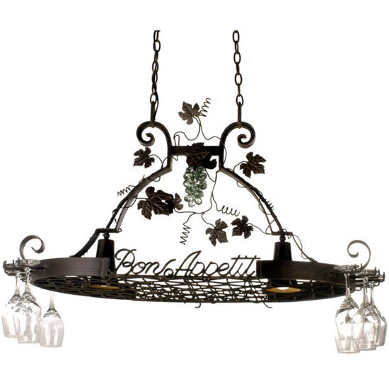 Bon Appetit Pot Rack with Downlights