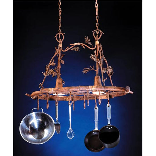 Ponderosa Pot Rack with Downlights