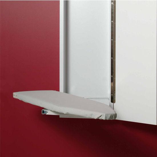 Wall mounted ironing board cabinet