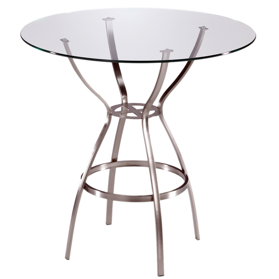 Trica Amsterdam Counter Height Glass Top Table