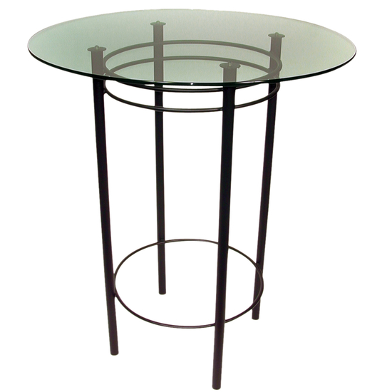 Trica Astro Dining Height Glass Top Table