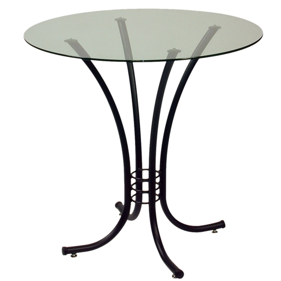Trica Erika Dining Height Glass Top Table