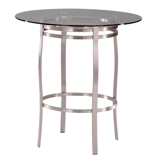 Trica Porto Dining Height Glass Top Table