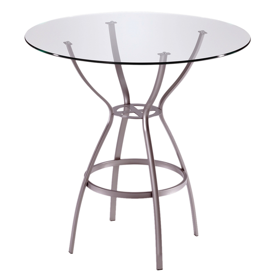 Trica Rome Bar Height Glass Top Table