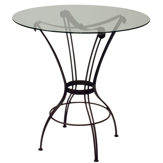 Trica Transit Bar Height Glass Top Table
