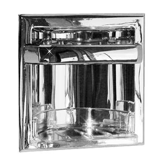 Sunglow Collection Recessed Soap Holder With Utility Bar