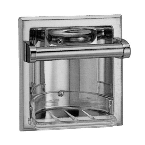 Sunglow Collection Screw-In Recessed Paper Holder with Chrome Roller