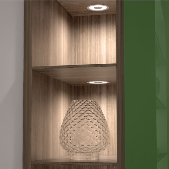 Tresco by Rev-A-Shelf Halemeier Designer Collection 12VDC LED 2W Solo Light