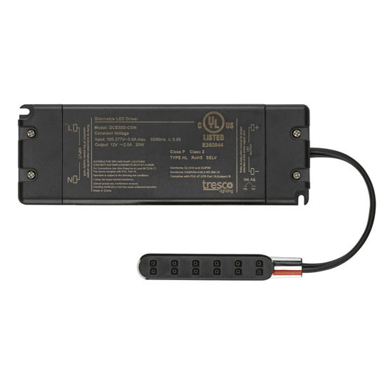 12VDC 30W Dimmable LED Power Supply