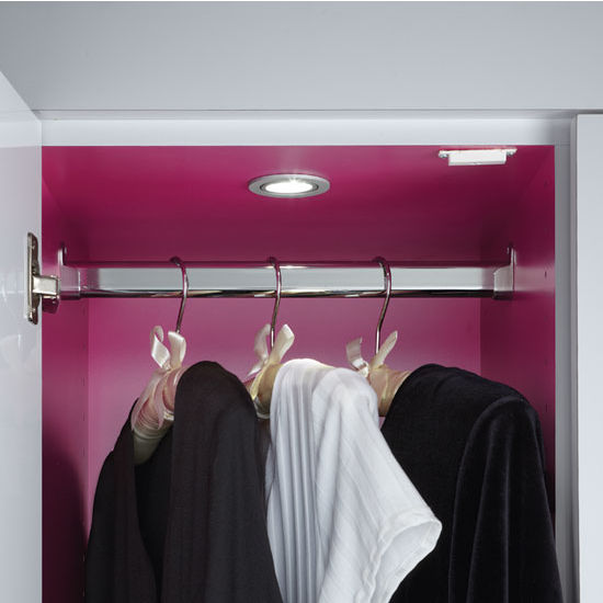 Tresco by Rev-A-Shelf 12VDC Pockit Swivel Spot LED Light, Recess, 3W, 5000K, Satin Nickel